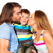 Kissing a son — Stock Photo