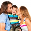 Stock Photo: Kissing a son