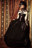 Brunette steampunk — Stock Photo