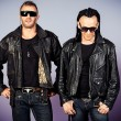 Stock Photo: Men in leather jackets