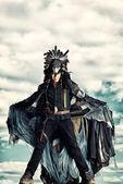 Corbeau noir — Photo