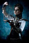 Mechanical lady — Stock Photo