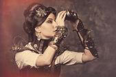 Warrior lady — Stock Photo