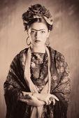Vrouw retro — Stockfoto