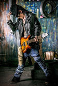 Rock artist — Stock Photo