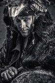 šaman obličej — Stock fotografie