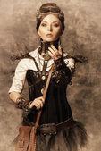 Majestátní dívka — Stock fotografie