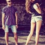 Jeans couple — Stock Photo