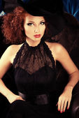 Glamorous witch — Stock Photo