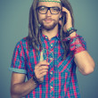 Hippie man — Stock Photo