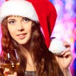 Lady christmas — Stockfoto