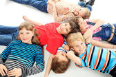 Children on a floor — Stock Photo