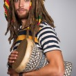 Guy rastafarian — Stock Photo