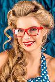 červené brýle — Stock fotografie