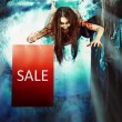 Stock Photo: Halloween sale
