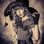 Retro witch — Stock Photo