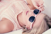 Pink sunglasses — Stock Photo