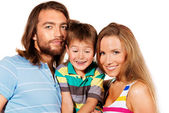 Funny family — Стоковое фото