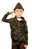 Saluting — Stock Photo