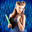 Smart pin-up girl — Stock Photo