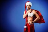 Attractive santa — Stock Photo