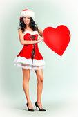 Chica corazón — Foto de Stock