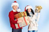 Holding presents — Stock Photo