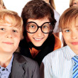 Stock Photo: Funny schoolchildren