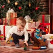 Baby on Christmas — Photo