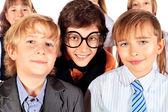 Funny schoolchildren — Stock Photo