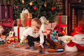 Baby on Christmas — Stock Photo