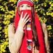 Hat-scarf — Stock Photo