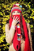 Hat-scarf — Стоковое фото