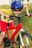Bicycle races — Stock Photo