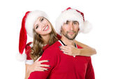 New year couple — Stock Photo