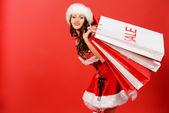 Christmas shopper — Stock Photo