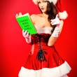 Glamorous santa girl — Stock Photo