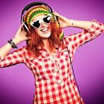 Girl in headphones — Stock Photo #37137867