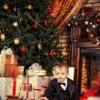 Kids xmas — Stock Photo