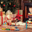 Child and presents — Stock Photo