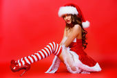 Sexual holiday costume — Stock Photo
