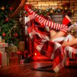 Stock Photo: Striped stockings