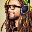 Stock Photo: Smile reggae