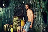 Machinery garage — Stock Photo