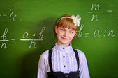 Cute schoolgirl — Stock Photo