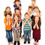 Surprised children — Stock Photo