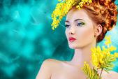Yellow mimosa — Stock Photo