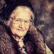 Stock Photo: Old madam