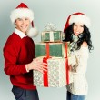 Xmas pair — Stock Photo