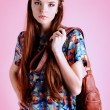 Girl with bag — Stock Photo #42156689